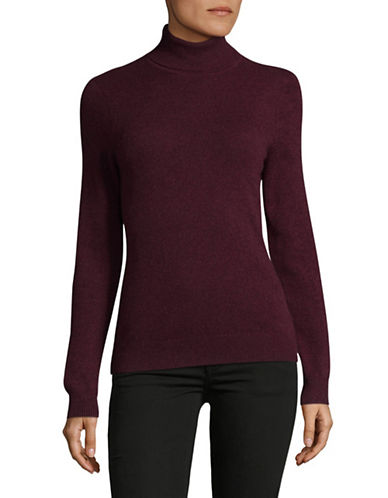 Lord & Taylor Cashmere Turtleneck Sweater-BEGONIA-Large