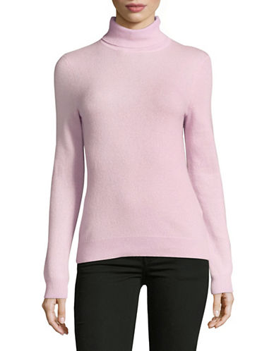 Lord & Taylor Cashmere Turtleneck Sweater-VINTAGE LILAC-Small