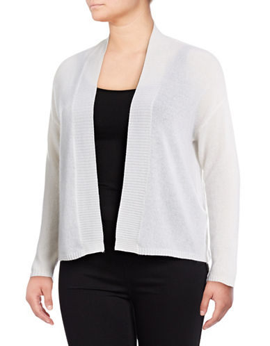 Lord & Taylor Plus Featherweight Cashmere Cardigan 89311415