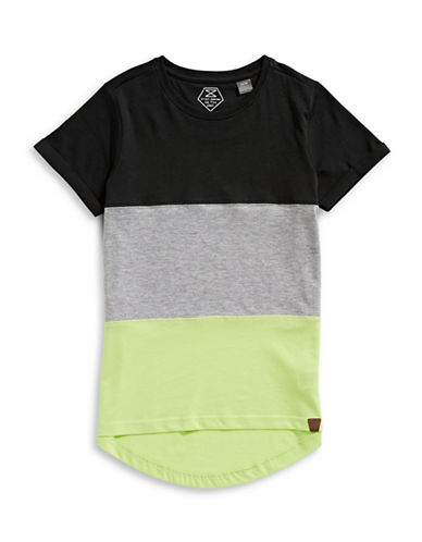 Manguun Pieced T-Shirt-BLACK-Small