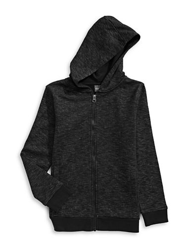 Manguun Fleece Hoodie-BLACK-Medium
