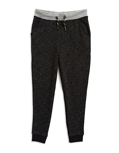 Manguun Fleece Jogger Pants-BLACK-Large 89213128_BLACK_Large