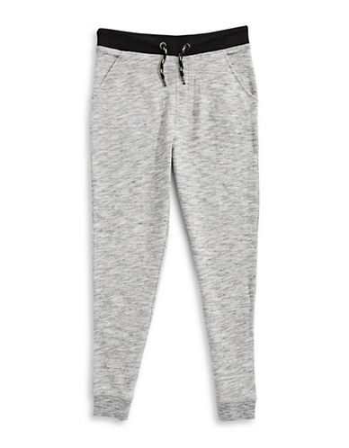 Manguun Fleece Jogger Pants-GREY-X-Large 89213125_GREY_X-Large