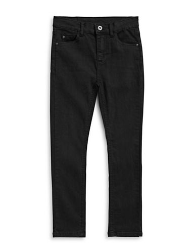 Manguun Black Skinny Jeans-BLACK-16