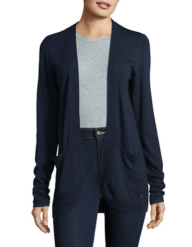 Manguun Open-Front Cardigan-BLACK-Large