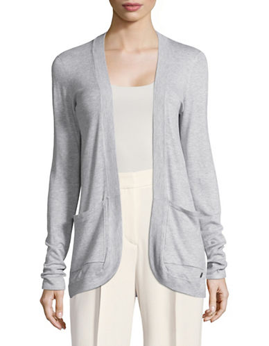 Manguun Open-Front Cardigan-GREY-Large