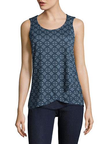 Manguun Layered Printed Tank-PRINT NAVY-Large