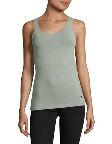 Manguun Petite Solid Tank Top-GREY-Medium 89233006_GREY_Medium