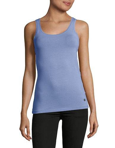 Manguun Solid Tank Top-BLUE-Medium
