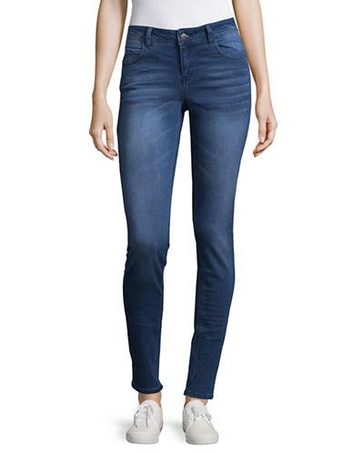 Manguun Wrinkle Skinny-Fit Jeans-BLUE-36