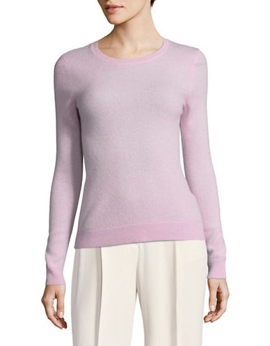 Lord & Taylor Petite Cashmere Crew Neck Sweater-VINTAGE LILAC-Petite X-Small