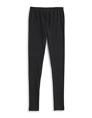 Manguun Cotton Stretch Leggings-BLACK-Medium 89220642_BLACK_Medium