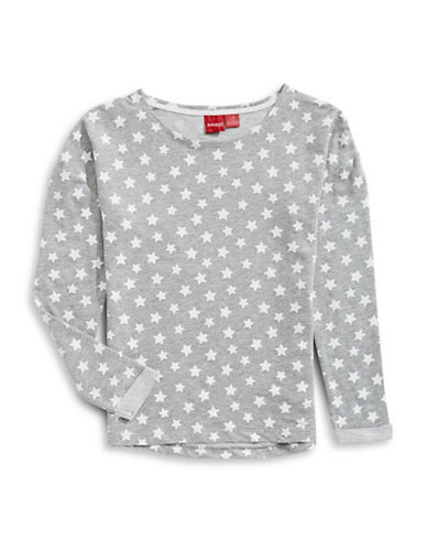 Manguun Star Sweatshirt-GREY-Medium