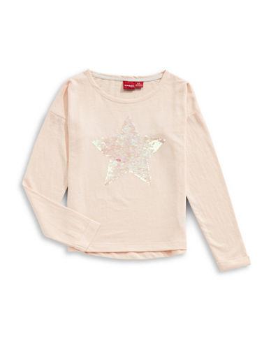 Manguun Sequined Star Sweatshirt-PINK-Large