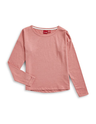 Manguun Basic Sweatshirt-ROSE-Small