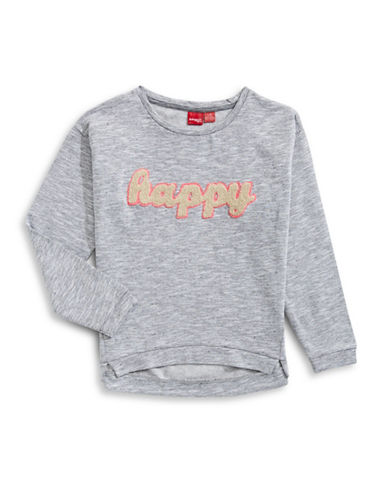 Manguun Happy Graphic Sweatshirt-GREY-X-Large 89224662_GREY_X-Large