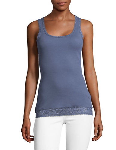 Manguun Lace Trim Tank-BLUE-Medium 89288341_BLUE_Medium