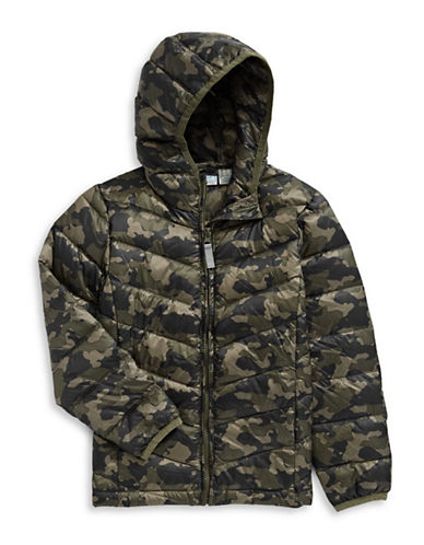 Manguun Boys Packable Puffer Jacket-BROWN-Large 89229037_BROWN_Large