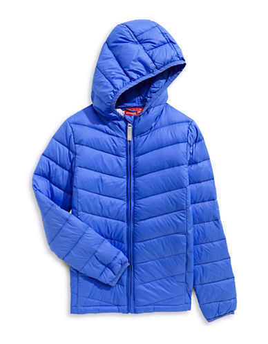 Manguun Boys Packable Puffer Jacket-BLUE-Medium