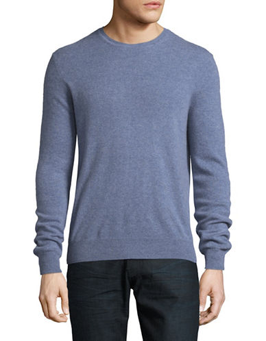 Black Brown 1826 Cashmere Crew Neck Sweater-BLUE-Large