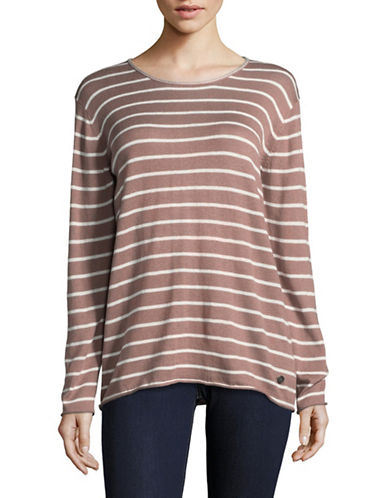 Manguun Drop Shoulder Sweater-PINK-Medium