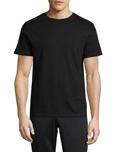 Manguun Marled Crew T-Shirt-GREY-Small