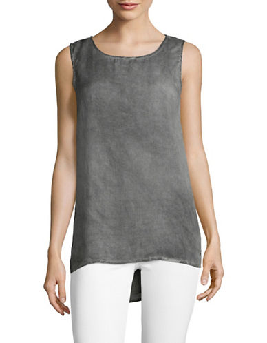 Manguun Shine Sleeveless Top-GREY-40