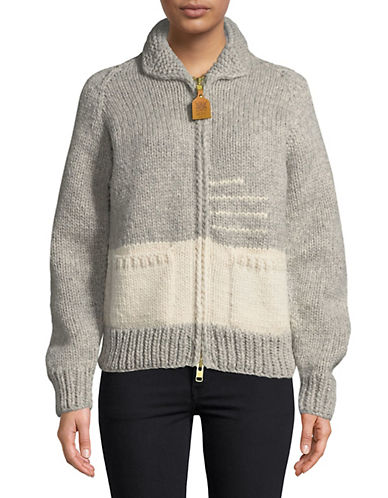 HudsonS Bay Company Hand-Knit Wool Sweater-GREY-X-Small
