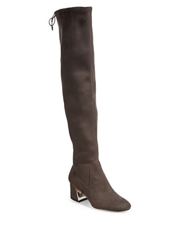 424 Fifth Over-the-Knee Block Heel Boots-CHARCOAL-11