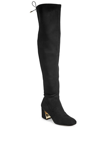 424 Fifth Over-the-Knee Block Heel Boots-BLACK-7.5