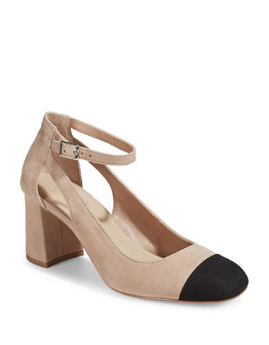 424 Fifth Geri Contrast Suede Mary-Janes Shoes-BEIGE-10