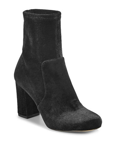 424 Fifth Grant Velvet Short Boots-BLACK-8.5