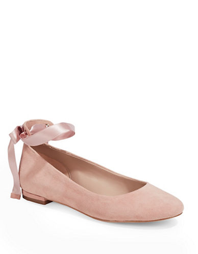 424 Fifth Penelope Leather Ballet Flats-PINK-8.5