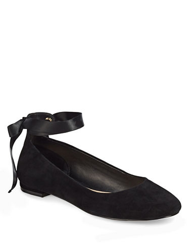 424 Fifth Penelope Leather Ballet Flats-BLACK-5.5