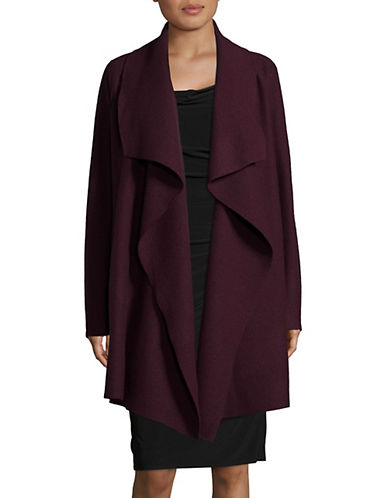 Lord & Taylor Open Front Merino Wool Coat-BEGONIA-Medium