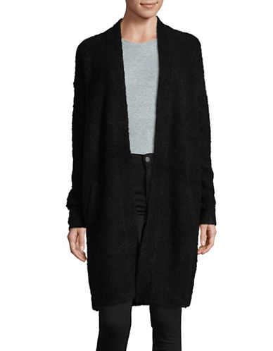 Lord & Taylor Long Duster Cardigan-BLACK-Small