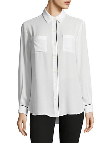 Lord & Taylor Plus Classic Blouse-WHITE-1X
