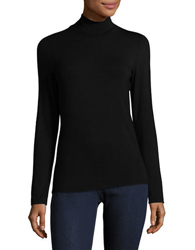 Lord & Taylor Iconic Turtleneck-BLACK-Small