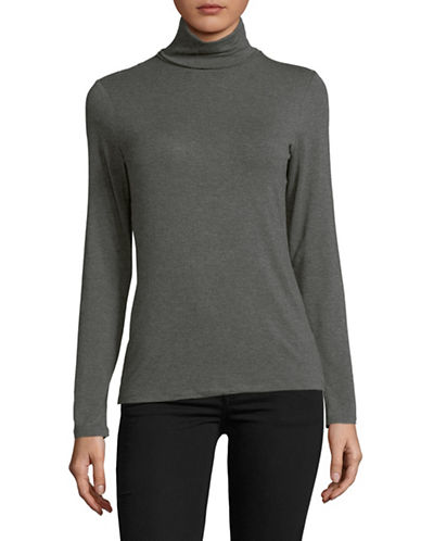 Lord & Taylor Iconic Turtleneck-CHARCOAL HEATHER-X-Small