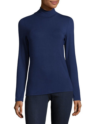 Lord & Taylor Iconic Turtleneck-NAVY-Small