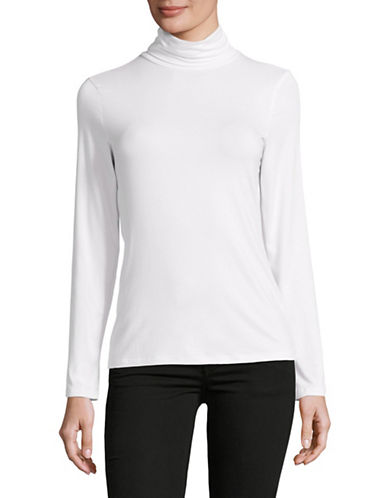 Lord & Taylor Iconic Turtleneck-CLOUD WHITE-Small