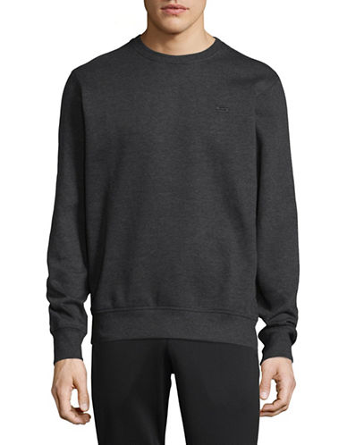 Manguun Heathered Round Neck Sweatshirt-GREY-Small 89352913_GREY_Small