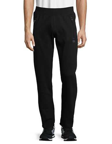 Manguun Zip-Pocket Jogging Pants-BLACK-Large 89352953_BLACK_Large
