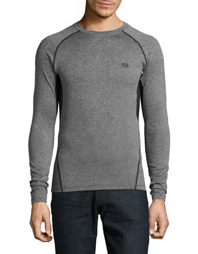 Manguun Long Sleeve Crew Neck Logo Tee-GREY-Medium 89353000_GREY_Medium