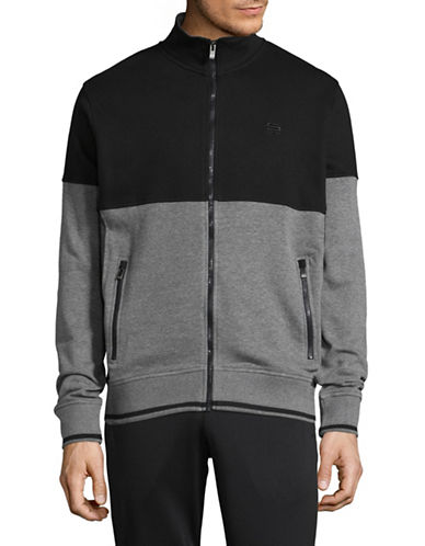 Manguun Colourblock Zip-Front Jacket-GREY-Large 89352949_GREY_Large