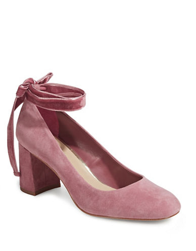 424 Fifth Geila Suede Mary-Janes Shoes-PINK-6