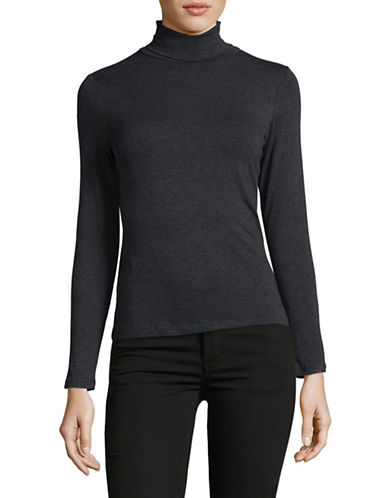 Lord & Taylor Petite Iconic Turtleneck-CHARCOAL HEATHER-Petite X-Large