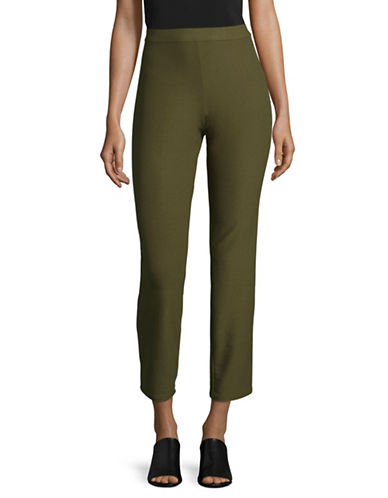 H Halston Pull-On Skinny Pants-OLIVE-Small