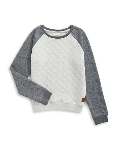 Manguun Long Raglan Sleeve Sweater-GREY-X-Large 89284668_GREY_X-Large