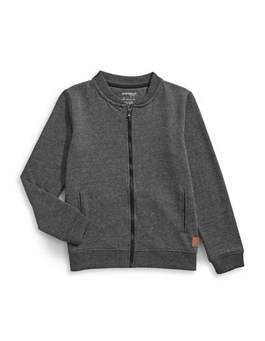 Manguun Zip Sweater-GREY-Large